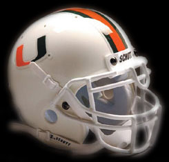Miami Hurricanes football helmet